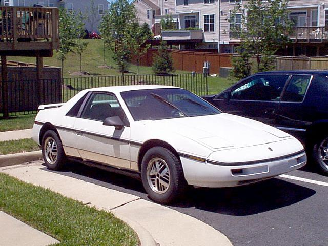 White Fiero SE Coupe